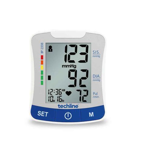 Imagem de Monitor de Pressão de Pulso Techline BP-2208 Branco e Azul