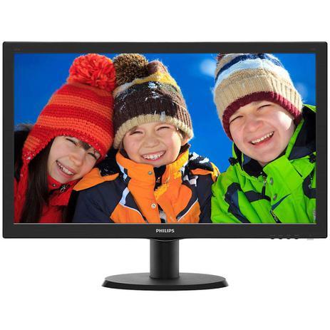 Imagem de Monitor LCD 23,6 Widescreen Philips 243V5QHABA Full HD Preto - HDMI, SmartControl Lite