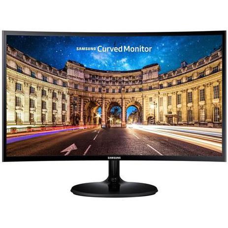 Imagem de Monitor Samsung LED 24 Pol Widescreen Curvo, Full HD, HDMI/VGA, FreeSync - LC24F390FHLMZD