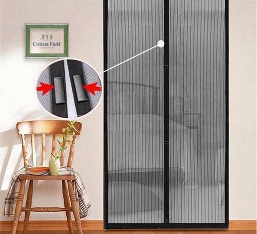 Mosquiteiro Cortina Porta Tela Para Insetos Mosquito Dengue Febre - Tela-para-cortina