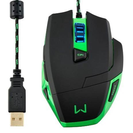Imagem de Mouse com Fio USB Warrior Gamer Macro 3200DPI MO245 Multilaser