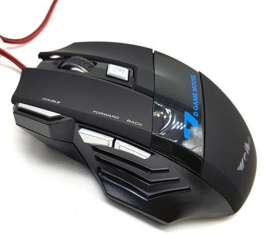 Imagem de Mouse Gamer 3200 Frames e 2400 Dpi Usb Com 7 Botões luz Led Rgb Preto