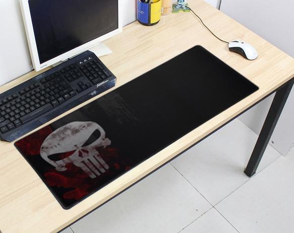 Imagem de Mouse Pad Gamer Grande 70x35cm Antiderrapante Bordas Costuradas Estampa Caveira  Exbom MP-7035C