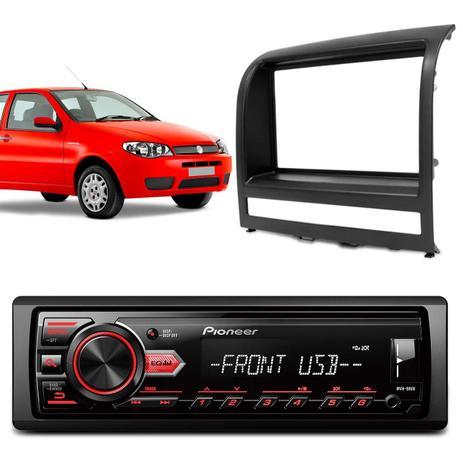 Imagem de MP3 Player Automotivo Pioneer MVH-98UB 1 Din USB Interface Android + Moldura Palio Strada Siena Idea