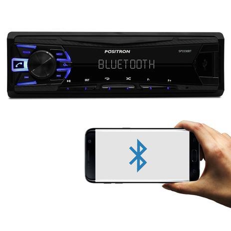 Imagem de MP3 Player Automotivo Pósitron SP2230BT 1 Din LED Bluetooth USB Rádio FM WMA