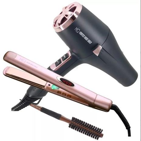 7a3ef5314 MQ Profissional Secador Vortex 220v 2400w + Prancha Rose Titânio 450 p/  escova progressiva + Escova - Mq hair profissional