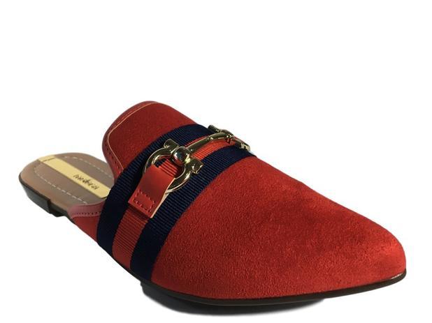 bd5c2ee06de Mule Sapatilha Sapato Feminina Moleca Vermelha 5444103 - Molekinha
