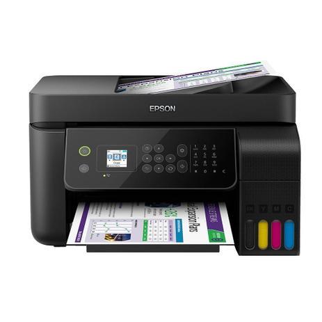 Imagem de Multifuncional Epson L5190 Tanque de Tinta EcoTank Colorida, Wi-Fi Direct, USB, Bivolt