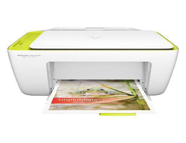 Imagem de Multifuncional HP Deskjet Ink Advantage 2136, Branca e Amarela, Jato de Tinta, USB