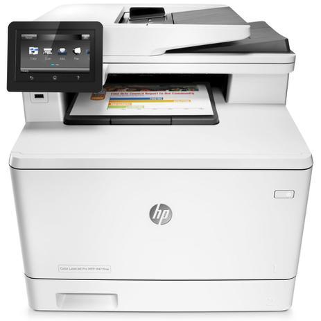 Imagem de Multifuncional Laser Color HP LaserJet Pro M477fnw - Fax, Rede, Wireless