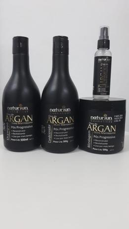 Imagem de Naturiun Kit Pós Progressiva De Argan Shampoo + Condicionador + Máscara + Óleo