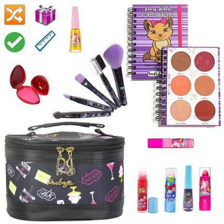 Imagem de Necessaire Maleta Infantil Com Kit Maquiagem Completo MKI135