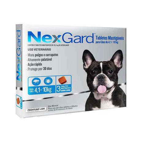 Imagem de Nexgard M Cães 4,1 a 10kg 3 Tabletes Antipulgas e Carrapatos Merial - Descrição marketplace