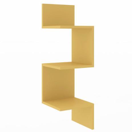 Imagem de Nicho de Canto com 3 Prateleiras Amarelo