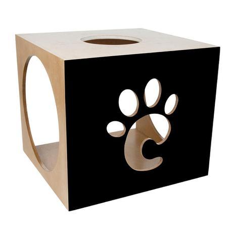 Imagem de Nicho Para Gatos Carlu Pet House Patinha Preto