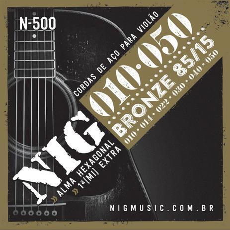 Imagem de NIG - Encordoamento Para Violão Aço N500