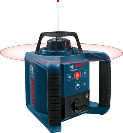 Nível À Laser Rotativo Grl 250hv Com Maleta E Controle - Bosch ... 4b19e97b81