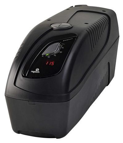 Imagem de Nobreak Senoidal E. Trivolt S. 115v Bat. 2x9Ah 10 Tomadas Display Digital Ragtech Easy Pro 2000VA c/ USB + Engate