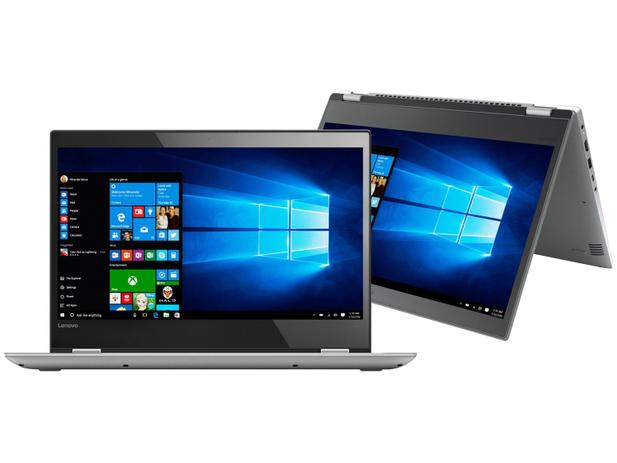 "90ab595e4 Notebook 2 em 1 Lenovo Yoga 520 Intel Core i7 - 8GB 1TB Touch Screen 14""  Windows 10"