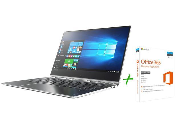 """Notebook 2 em 1 Lenovo Yoga 910 Intel Core i7  - 7ª Geração 8GB 256GB 13,9"""" + Office 365 Personal"""