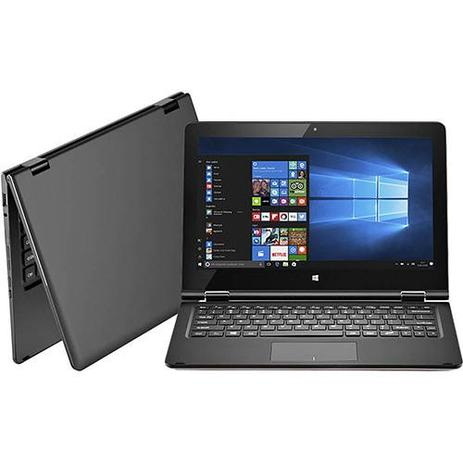 "c616cab45 Notebook 2 em 1 Multilaser M11W Intel Atom 2GB 32GB Tela 11,6"" Windows 10  -Cinza"