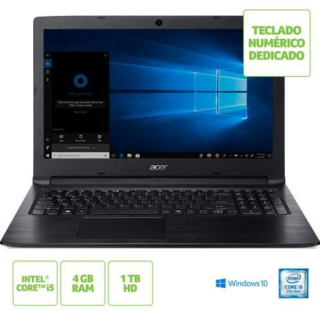 Imagem de Notebook Acer Aspire 3 i5-7200U 4GB RAM HD 1TB Tela HD 15.6'' Windows 10 - A315-53-55DD