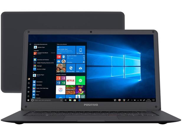 "Notebook Positivo Motion Q232A Intel Atom - 2GB SSD 32GB 14"" Windows 10"