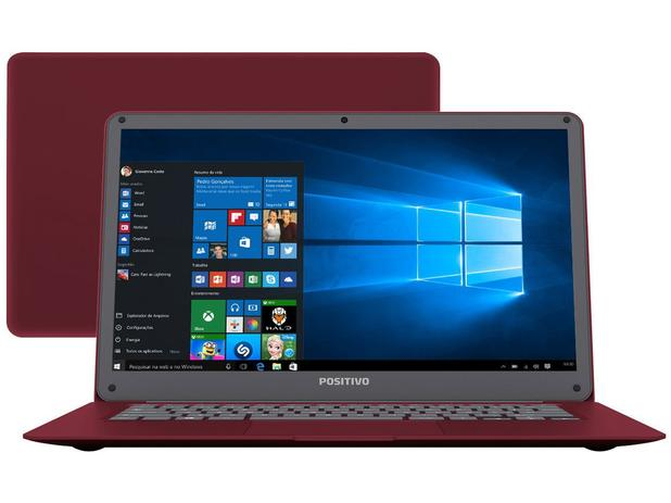 Notebook Positivo Motion Red Q 232A - Intel Quad Core 2GB 32GB LED 14 Windows 10