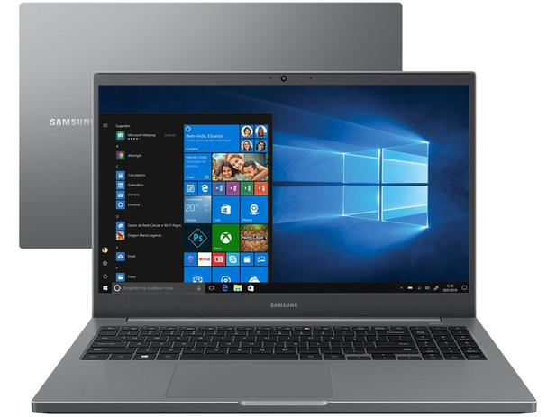 "Notebook Samsung Book NP550XDA-KO1BR – Intel Celeron 4GB 500GB 15,6"" Full HD LED"
