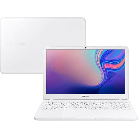 "Notebook Samsung Essential E20 - 15.6"" Intel Celeron, 4Gb, HD 500GB, Windows 10 - Branco"