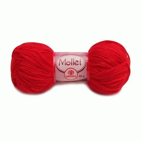 Imagem de Novelo de Lã Vermelha 40g Mollet