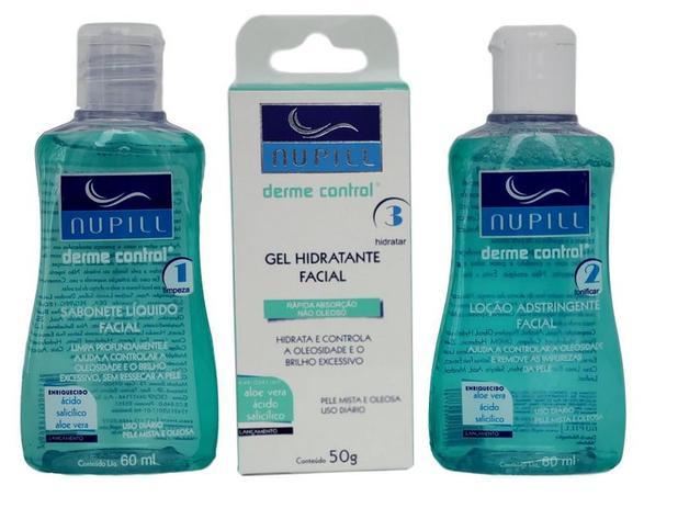 Imagem de Nupill Derme Control Kit Sabonete Adstringente Gel Hidratante