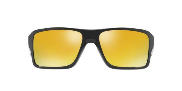 9cd29a6cdcbe5 Oakley DOUBLE EDGE OO9380 02 Preto Polido Lente Amarelo Iridium 24K Tam 66