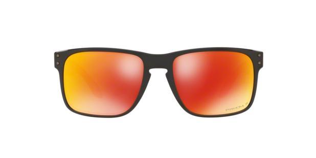 Oakley HOLBROOK OO9102 9102F1 Preto Lente Polarizada Vermelho Ruby Prizm  Tam 55 7fbffbdc3f