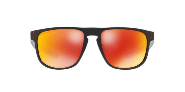 018166e3c4843 Oakley HOLBROOK R OO9377 937707 Preto Lente Polarizada Vermelho Ruby Prizm  Tam 55