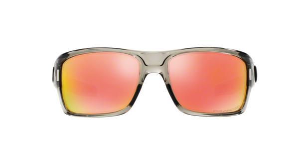 2651d23fc9 Oakley TURBINE OO9263L 926310 Cinza Lente Polarizada Espelhada Vermelho  Ruby Iridium Tam 65