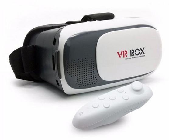 b595e67306487 Óculos 3d Vr Box Realidade Virtual 2.0 Celular Smartphone Android   ios + Controle  bluetooth
