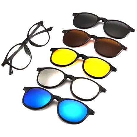 09192bbef Oculos Armação Sol Clipon 5 em 1 Redondo Retro - Isabela dias ...