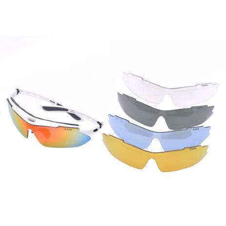 4f9de2edf Óculos Ciclismo 5 Lentes 1 Polarizada Cores - Kapa Bikes - Óculos de ...