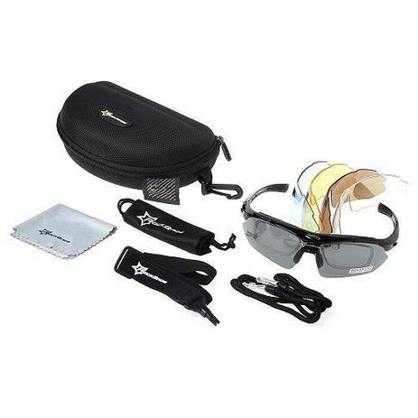 0884e5547a484 Óculos Ciclismo Esportes Polarizado 5 Lentes Rockbros + Clip Lente De Grau  - Lei li imports