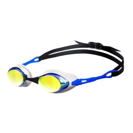 59624fd15 Óculos Cobra Mirror Azul e Branco Lente Laranja Espelhado Arena ...