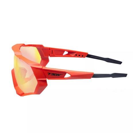 f61ee3a9c Óculos De Ciclismo Tsw Cross Vermelho Com Proteção Uv400 3 Lentes Mtb  Freeride DH