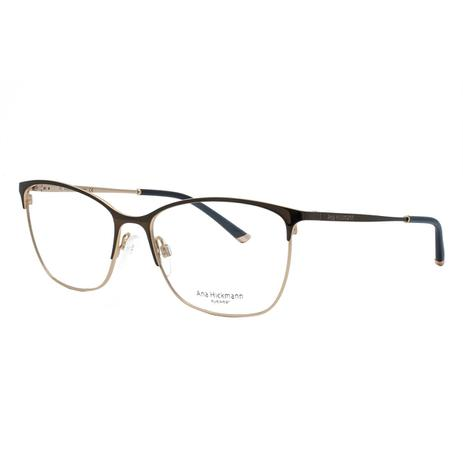 e9f3d1bb1eb1b Óculos de Grau Ana Hickmann Feminino AH1351 01A - Marrom Bronze e Dourado