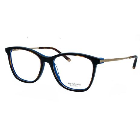 689e05f43 Óculos de Grau Ana Hickmann Feminino AH6269 - Acetato Tartaruga Marrom e  Metal Dourado