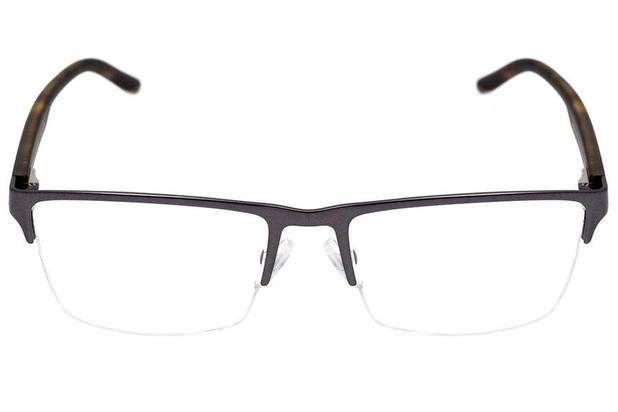 7dc619ba9 Óculos de Grau Armani Exchange AX1026L 6088/54 Cinza Escuro Fosco ...