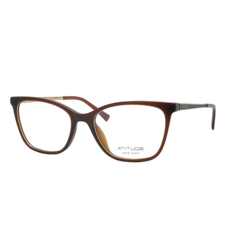 b899fb620 Óculos de Grau Atitude Feminino AT6197I T02 - Acetato Marrom Claro ...