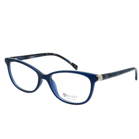 e31ee9710f17b Óculos de Grau Bulget Feminino BG4098 T02 - Acetato Azul e Haste Trabalhada