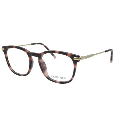 0fa3b40ef Óculos de Grau Calvin Klein Feminino CK5965 669 - Acetato Tartaruga Marrom  e Metal Dourado