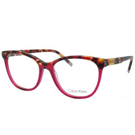 Óculos de Grau Calvin Klein Feminino CK5975 221 - Acetato Tartaruga Bordô bc9ee36fdf