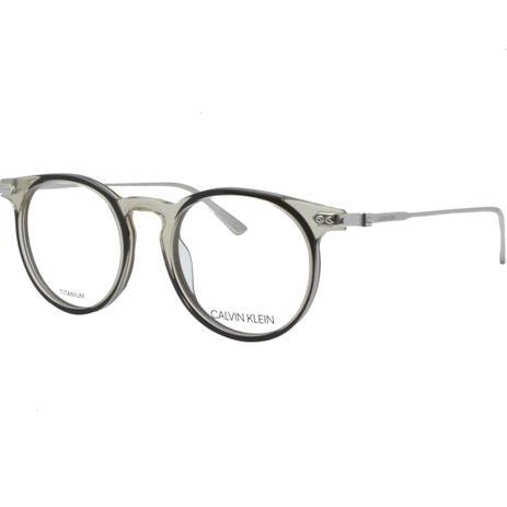 e68cd39bdee0b Óculos de Grau Calvin Klein Unissex CK18705 278 - Acetato Transparente e  Haste de Titânio Prata